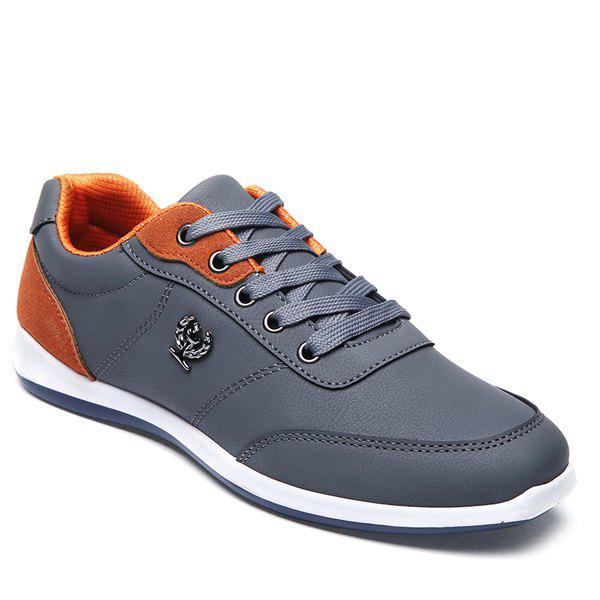 Discount Trendy Colour Splicing and Metal Design Casual Shoes For Men