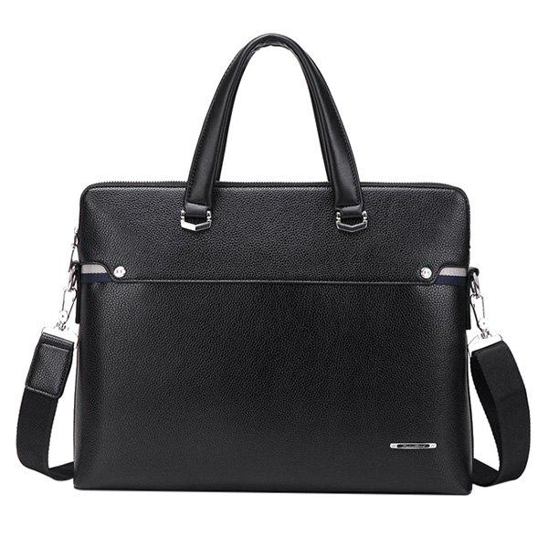 Cheap Concise Dark Color and PU Leather Design Briefcase For Men