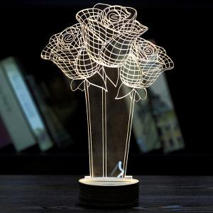 Creative Home Decoration Roses Shape LED Night Light - Light Yellow - W16 Inch * L47 Inch