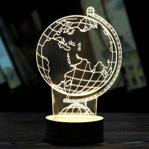 Creative Home Decoration 3D Tellurion Design LED Night Light - Light Yellow - 2xl