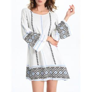 Stylish Geometric Print Women's Shift Dress