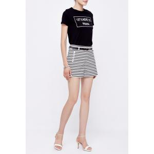 Striped Straight Shorts -