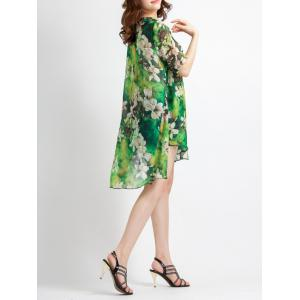 Brief Asymmetrical Floral Print Women's Dress -