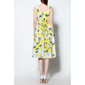 Strappy Lemon Print Dress -
