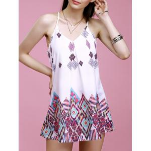 Spaghetti Strap Geometric Print Summer Dress