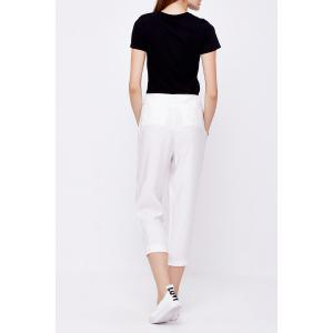 Capri Cigarette Pants with Belt -