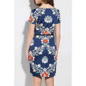 Sweetheart Neck Flower Print Dress -