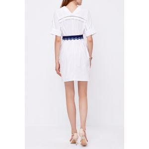 V Neck Cut Out Belted Dress -