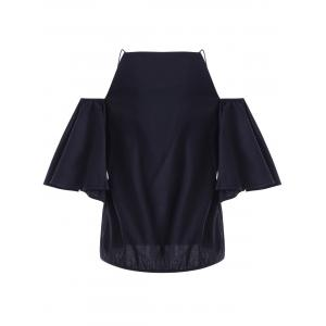 Fashionable ColdShoulder Flounce Sleeves Top For Women -