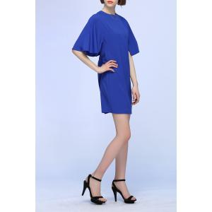 Split Sleeve Pure Color Dress -