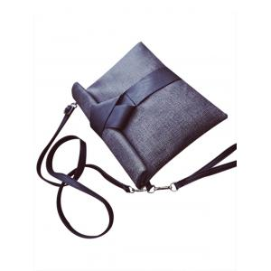 Concise Colour Block and PU Leather Design Clutch Bag For Women -