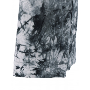 Fashionable High Waist Tie Dye Loose-Fitting Pants -
