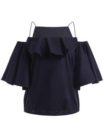Trendy Fashionable Cold Shoulder Flounce Sleeves Top For Women