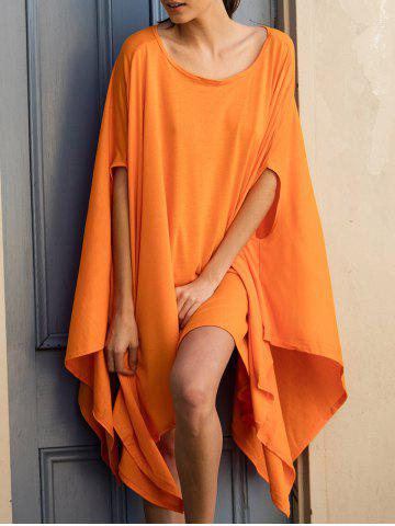 Shops Batwing Sleeve Asymmetrical Caped Tops