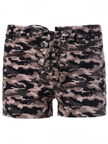 Outfits Chic Women's Camouflage Print Shorts CAMOUFLAGE XL