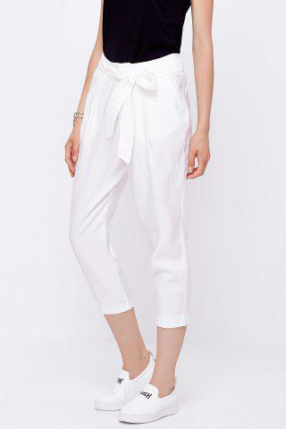 Shop Capri Cigarette Pants with Belt