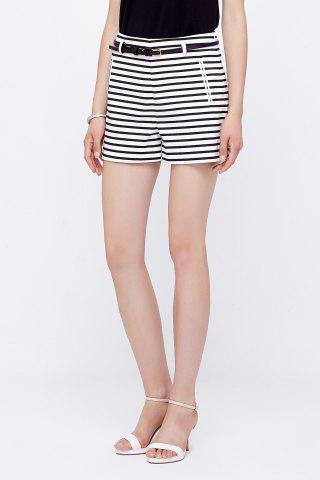 Sale Striped Straight Shorts