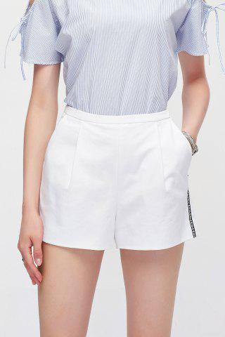 Outfit High Waisted Letter Spliced Shorts