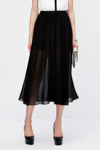 Fancy Pleated Sheer Skirt
