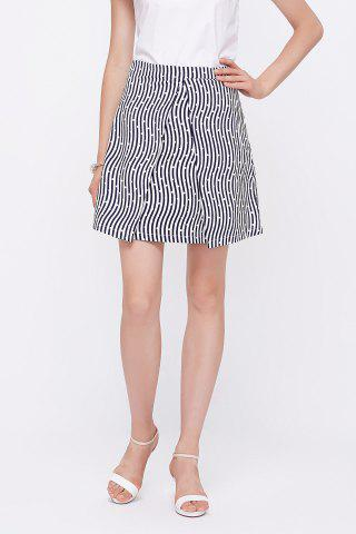Outfits Polka Dot Print Striped Skirt