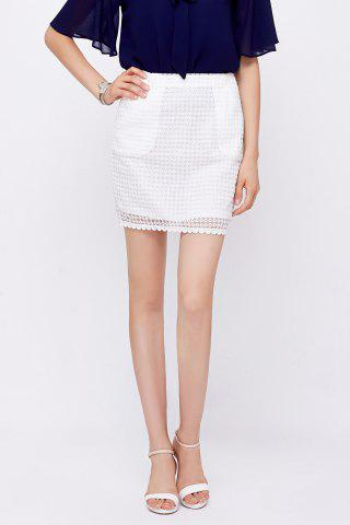 Cheap High Waist Lace Skirt