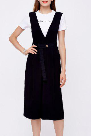 Cheap Solid Color Cropped Overalls