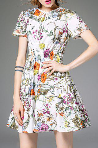 Buy Drawstring Waisted Corset Floral Print Dress