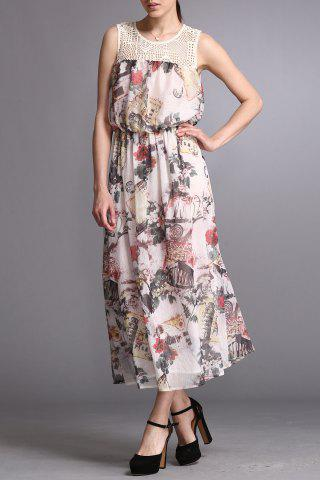 Buy Floral Print Chiffon Ankle Length Dress