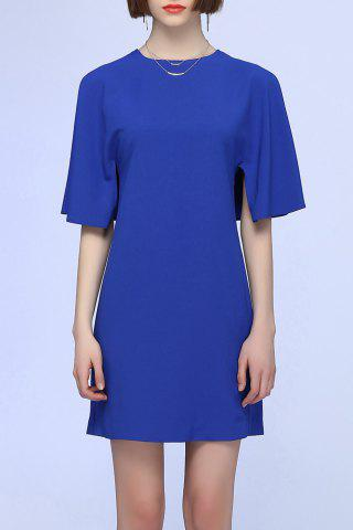 Sale Split Sleeve Pure Color Dress
