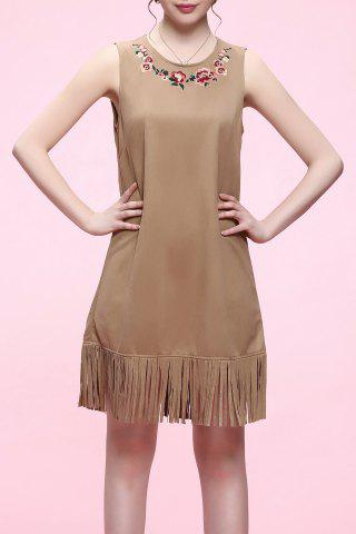 Hot Fringed Sleeveless Mini Dress