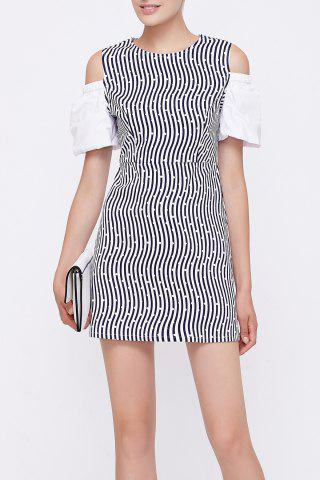 Fashion Striped Cut Out Dress