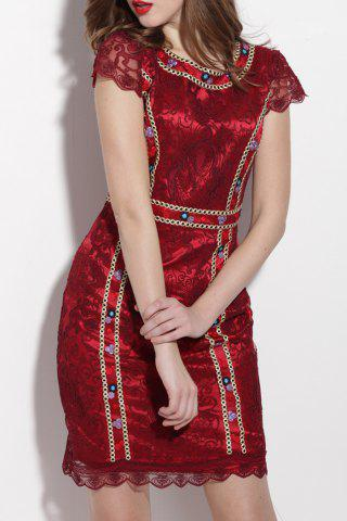 Fancy Lace Embroidered Sheath Dress