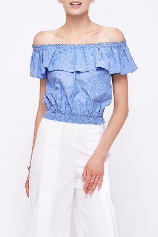 Cheap Off The Shoulder Ruffled Blouse
