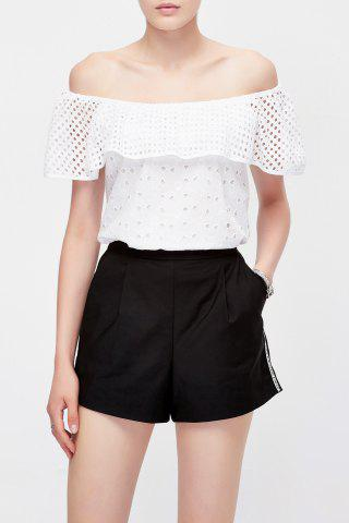 New Off The Shoulder Mesh Blouse