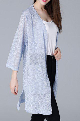 Store Slit See Thru Open Front Cardigan