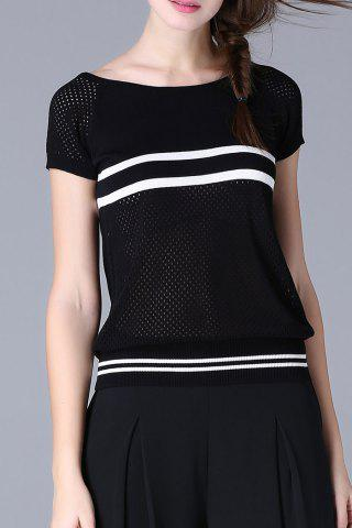 Online Cutwork Stripe Knit Tee