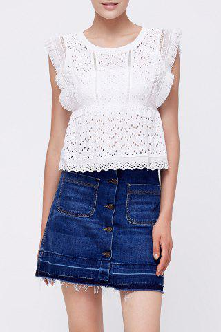 Outfit Openwork Fringed Top