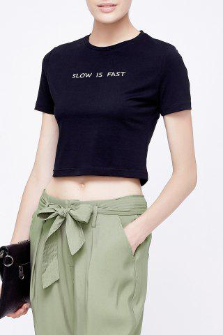 Buy Letter Print Crop Top