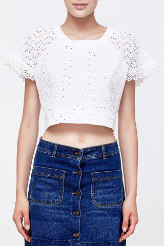 Fancy White Short Cut Out T-Shirt