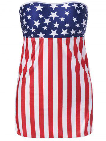 Chic American Flag Bandeau Cover Up COLORMIX 3XL