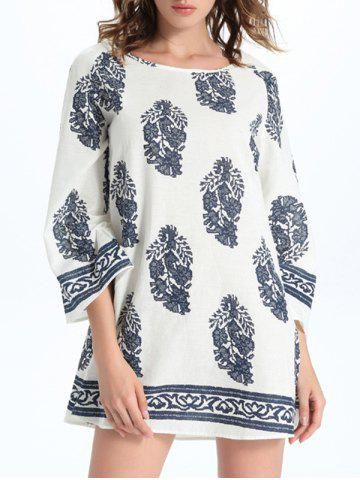 Affordable Fashionable Round Neck Floral Print Women's Shift Dress