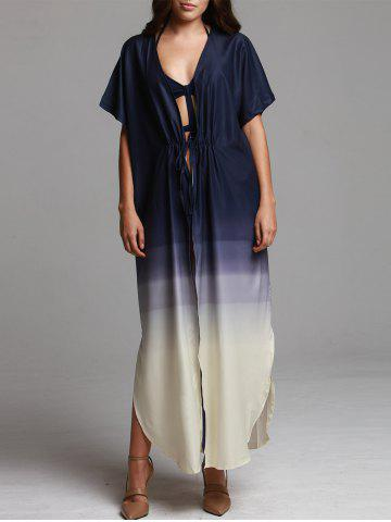 Ombre Print Maxi Beach Coverup Dress