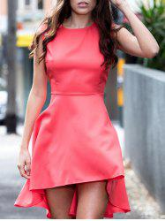 Solid Color Asymmetrical Going Out Dress