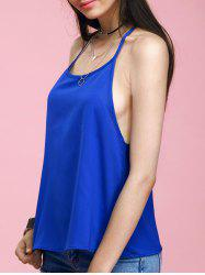 Fashionable Scalloped Solid Color Women's Tank Top -