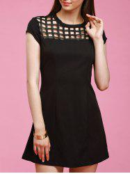 Black Hollow Out Dress -