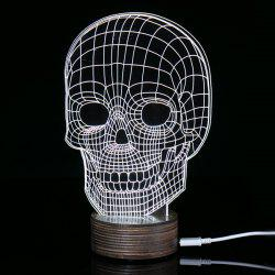 Creative Home Decoration 3D Skull Shape LED Night Light