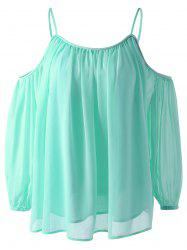 Fashionable Off-The Shoulder 3/4 Sleeve  Condole Blouse -