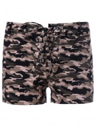 Chic Women's Camouflage Print Shorts - CAMOUFLAGE XL
