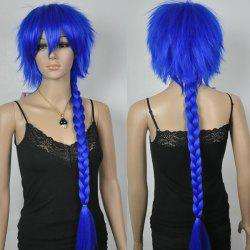 Chic Synthetic Blue Pig Tails Long Straight Braid Cosplay Wig
