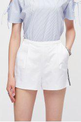 High Waisted Letter Spliced Shorts -